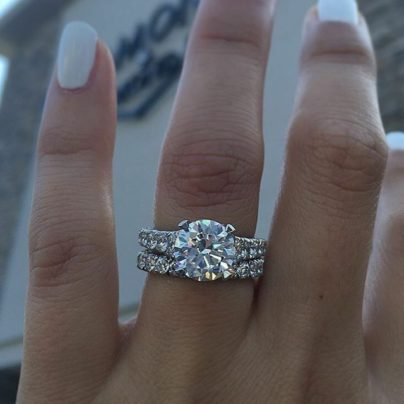 3.00Ct Marquise /& Round Cut Wedding Engagement Pretty Ring 14k White Gold Finish