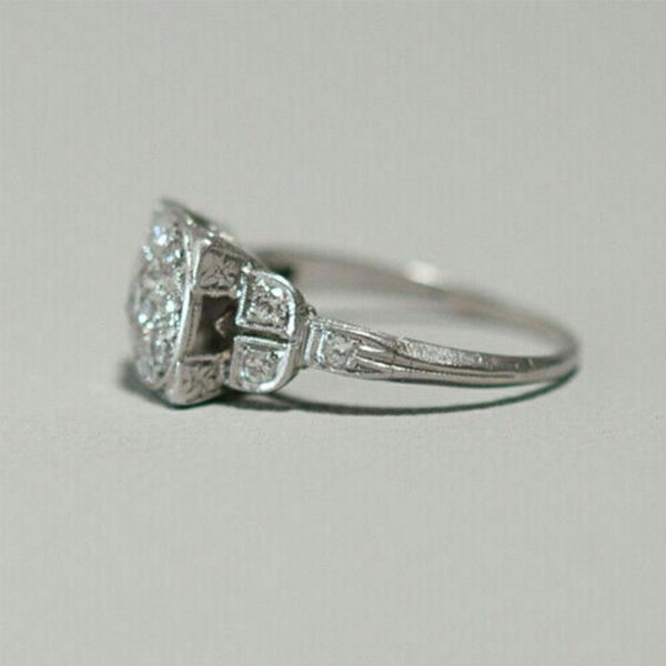 3.60 Carat 925 Sterling Silver Excellent Round Shape Solitaire Anniversary Ring