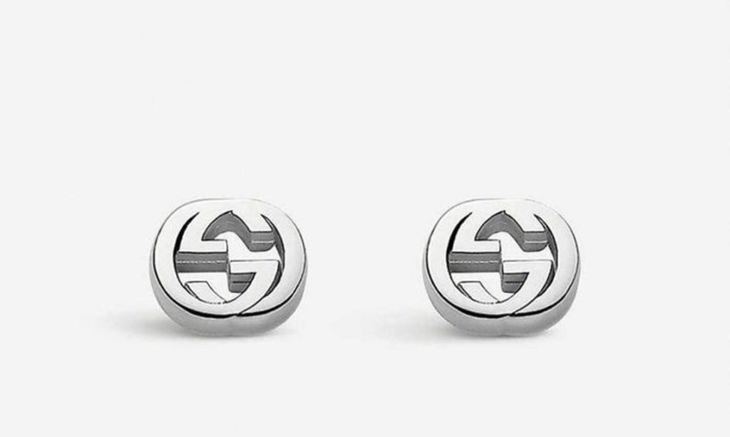 Gucci Interlocking G Design Inspired Screw Back Stud Earrings In Solid 925 Sterling Silver For Beautiful Women's Gifts SJ7411