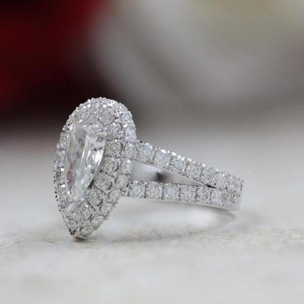 2.00Ct Heart VVS1 DIAMOND 14K WHITE GOLD Promise Ring Solitaire Engagement NORMA