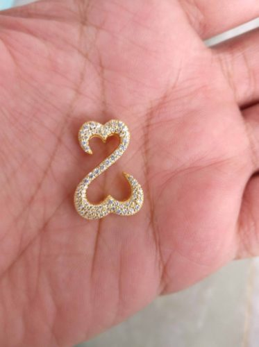 Jane Seymour 925 Solid Sterling Silver Diamond Open Heart Pendant For Necklace SJ7646 photo review