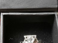 1.07Ct White Round Harry Potter Deathly Hallows Engagement 925 Silver Ring SJ7737