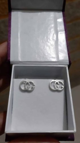 Gucci GG Stud Earrings, Tissue Stud With Solid 14K Gold Screw Back Stud Earrings New SJ7911 photo review