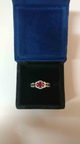 Enchanted Disney - Mulan Red Ruby and 1.05 Ct Simulated Diamond Ring in 925 Sterling Silver With Two Tone Finish - Valentine Gifts for her SJ8129 photo review