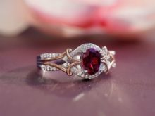 Enchanted Live Action Red Ruby 1.05 Ct Cubic Zirconia Diamond Ring in 925 Sterling Silver- Christmas Gifts for her SJ8129