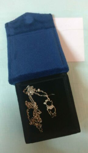 Treasures Winnie the Pooh Diamond Necklace Pendent In 925 Sterling Silver, 14K Gold Fn SJ8168 photo review