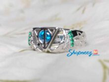 Harry potter fame Magical Owl Engagement Ring Wedding Ring Promise Ring Nerdy Fantasy Jewelry SJ8163