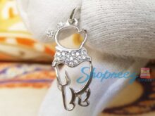 Winnie the Pooh Diamond Necklace Pendent In 925 Sterling Silver SJ8168