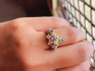 Star Fruit & Hearts Engagement Ring, Kingdom of hearts Cosplay Jewelry Nerdy Geek Video Game Keyblade Star, Christmas Offer SJ8180