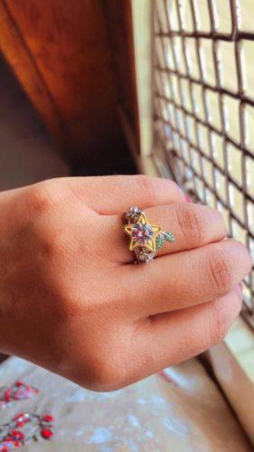 Star Fruit & Hearts Engagement Ring, Kingdom of hearts Cosplay Jewelry Nerdy Geek Video Game Keyblade Star, Christmas Offer SJ8180 photo review