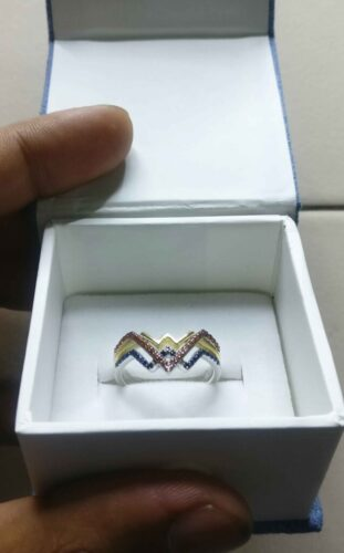 Wonder Woman Collection 1/4 Carat Round Cut Engagement Ring & Wedding Bands In Solid 925 Silver SJ8319 photo review