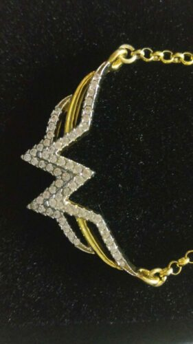 Wonder woman 1/8 CT. T.W. Diamond Symbol Pendant in 925 Sterling silver, Gift for her SJ8491 photo review