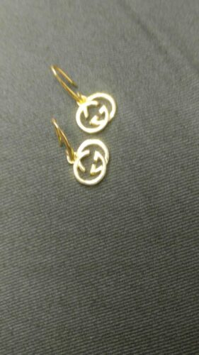 Womens Solid 925 sterling silver Britt Earrings 14K Gold over, Gucci inspired Leverback earrings SJ8488 photo review