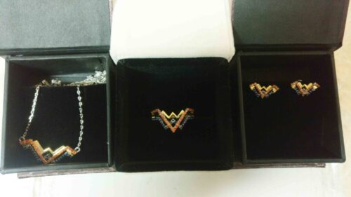 Wonder Woman Set, Wonder Woman Ring, Necklace Earrings And Ring Collection, Wedding Set In Solid Silver, Wonder Woman Collection SJ8910 photo review