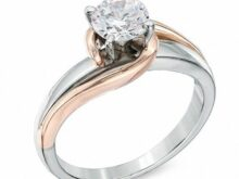 Beautiful 1.25 CT Colorless Round Cut White Moissanite Solitaire Engagement Ring Wedding Propose Ring Solid 10K/14K Two Tone White Gold Ring SJ2482