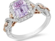Enchanted Disney Rapunzel Rose Day 2.35 Ct Amethyst & Diamond Frame Engagement Wedding Ring in 925 Silver Gifts Her Promise Ring SJ2484
