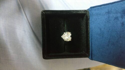 14K White Gold Finish 2.35Ct Heart Shaped Diamond Solitaire Love Promise Ring SJ2785 photo review